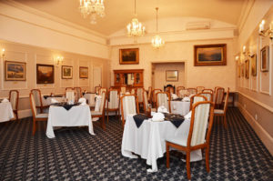 The PE St Georges Club dining room