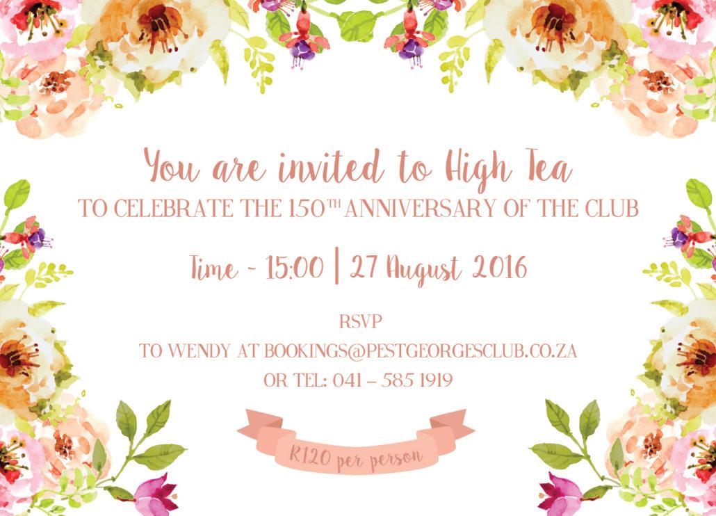 Past Event - High Tea Invitation