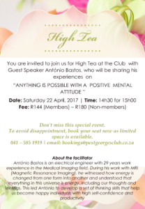 High Tea Flyer - 22 April 2017