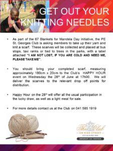 Scarves for Mandela Day Initiative - Flyer