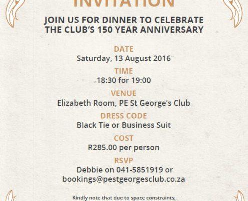 Past Event - Black Tie Dinner Invitation