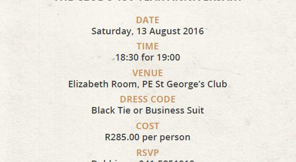 Past Event - Black Tie Dinner Invitation