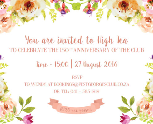 Past Event - High Tea Invitation