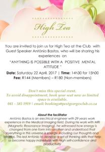 High Tea Flyer - 22 April 2017