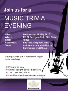 The Club's music trivia evening.