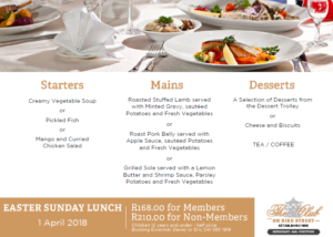 Easter Lunch Menu